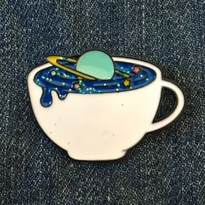 Galaxy tea pin